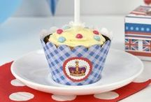 London + British / British and London themed things, inspiration for parties and celebrating the Queen's birthday.  Handmade items, party decorations, cakes and food and scrapbooking inspiration. (Includes my printable paper designs and party printables.)