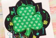 ST PATRICK'S EMBROIDERY DESIGNS / Digital Machine Embroidery and Applique Designs;  www.creativeappliques.com FACEBOOK: www.facebook.com/creativeappliques  / by Creative Appliques