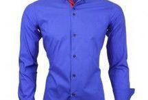 Italian Style New Shirts / New collection Italiaanse overhemden voor heren. Trendy blauwe en rode kleuren worden verwerkt in deze Italiaanse herenkleding.