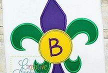 MARDI GRAS EMBROIDERY DESIGNS / Digital Machine Embroidery and Applique Designs; www.creativeappliques.com FACEBOOK: www.facebook.com/creativeappliques / by Creative Appliques