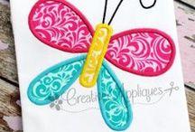 BUG EMBROIDERY APPLIQUE DESIGNS / Digital Machine Embroidery and Applique Designs; www.creativeappliques.com FACEBOOK: www.facebook.com/creativeappliques / by Creative Appliques