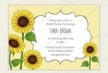 Sunflowers / Sunflower themed printables I designed, craft and baking inspiration with a sunflower theme
