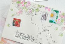 Mail art + Stationery / Inspiration for decorating envelopes; Mail art, drawings on envelopes, calligraphy...