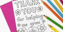 Thank you Teacher / Back to School / Teacher appreciation / Thank You Teacher gift ideas. Back to school ideas, stationery, DIY crafts.  School supplies and resources for teachers and students like notebooks, planners and printables.