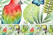 Tropical Rainforest / Tropical Rainforest inspiration, photos, illustration, crafts and party ideas.