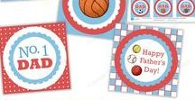Father's Day / Father's Day printables, gift ideas for Dads, handmade items, craft project diys.