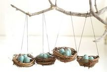 Hanging Easter Eggs / Hanging Easter Eggs - creative ideas to decorate with! / by Funsational