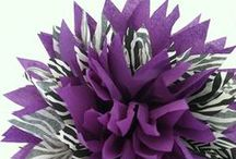 Purple + Zebra Baby Shower / Picking purple as your theme for a baby shower means...glaming it up with zebra stripes! / by Funsational