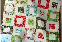 Quilting - Squares, Rectangles / Quilting with squares, rectangles, box in box
