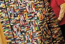 Quilting - String, Strips, Rails, Coin Quilts / String and strip quilts.