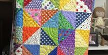 Quilting - HST / Half-square triangle quilts