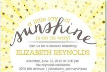 Baby Shower in Yellows & Glitter / Pastel yellows combined with pale greens and gold, or clean fresh lines in bright yellow paired with silver glitter is hot this spring! / by Funsational