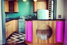 Art Deco Interiors / Art Deco 1920's style bathrooms, kitchens, bedrooms, and living rooms