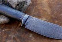 Dohnal fixed knives / nůž, nože, knife, knives, damask, damašek, hand made knives, art knife, damask knives