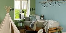 Boys Bedroom Ideas / Make Branch's Woodlawn Rustic Boys Bedroom come to life with True Value's EasyCare paint colors, inspired by DreamWorks Trolls: http://bit.ly/2eL7rqi
