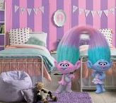 Twin Girls Bedroom Ideas / Your daughters will sleep in style in this fun, feminine, fashionable bedroom. Re-create this look in your own home using True Value's EasyCare paint inspired by Satin and Chenille of DreamWorks Trolls: http://bit.ly/2h7lmeS
