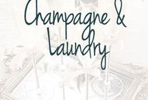 Champagne & Laundry Blog Board / Follow us on instagram @champagne.and.laundry