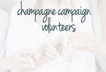 Champagne Campaign Volunteers / The guinea pigs of the Champagne Campaign networking group for buisiness women