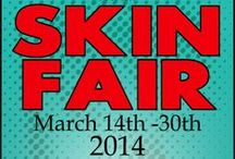 Skin Fair / Skin Fair 2014 for more info check their blog: http://skinfair.wordpress.com/ or their flickr group:http://www.flickr.com/groups/skinfair2013/pool/ for demos, and 24h early access join their update group: http://world.secondlife.com/group/152f2c53-7275-089e-34bd-b403b66c4715 Location will be added to each pin directly to booths