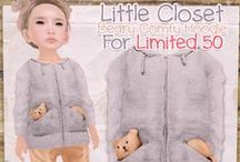Limited 50 / Limited 50 is monthly event with Limited Edition items (50 of each) that caters to Kid Avatars Location: http://maps.secondlife.com/secondlife/Jubilee/156/97/23
