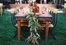 3. TABLE | DECORATION / Inspiratie, grote groep, familie, vrienden, wijn, bloemen, planten, urban