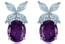 Purple Pleasures / Indulge in decadent, deep purple, mauve, lilac tones by DANI by Daniel K. The majestic purple sterling silver and simulated diamond jewelry is stylish enough for a queen (and her wedding subjects).