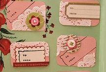 playing tag / handmade gift tags, art tags