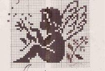 Monochrom cross stitch