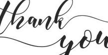 Wedding Thank You Notes / Thank you cards from our lovely brides & grooms!