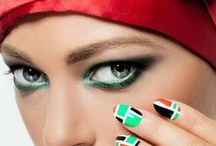 NCLA Nail Wraps (Exclusive for UAE National Day) / NCLA Nails Exclusively for UAE National Day - Featured with bint thani turban