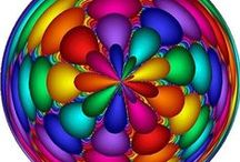 COLOR: Multi-Colored Madness / All Hues / Shades / Colors of the Rainbow / by Amanda Marchant
