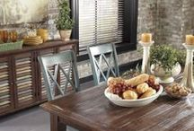 Delightful Dining Rooms / The dining rooms on this board are those available at Ashley Furniture Texas and Ashley Furniture Washington (which also extends to the Portland, Oregon area).