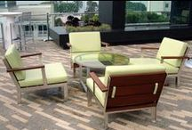 Etra Collection / Casual yet elegant, the Etra line offers a modern aesthetic that is constructed for outdoor use while being suitable for indoor settings.