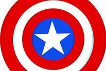 Capitão América / Decoração de Festas / Party Decor