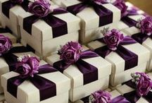 Wedding favours / Wedding favors, table decorations and special wedding gifts for guests.