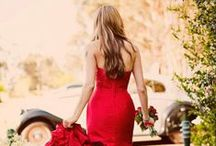 Coloured wedding dresses / Wedding gowns with a colour theme. Dress ideas for the colourful or adventurous brides.
