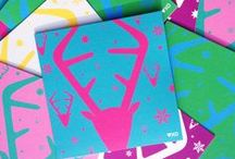 Christmas Cards by Heart Kiss Hug / Take a look at my newly designed Christmas Cards for 2013. I sketch all my designs first then create a graphic version before printing them with eco-friendly inks on to luxury textured card.  All available to buy here: http://www.heartkisshug.com