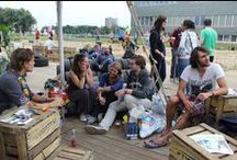 Beachclub WUR Campus / From 1 till 11 September 2014 there was a Beachclub on the Wageningen Campus. It was open every weekday from 12.00 to 20.00 for drinks and snacks. Also all kinds of activities will took place organised by student associations and Wageningen University & Research.