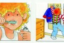 ☻ Higiene, gestos diarios / Ideas para enseñarle con pictogramas y dibujos a establecer rutinas de higiene todos los días: lavarse las manos, lavarse los diente, comer solo, vestirse...
