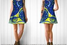 Clothing, Art Prints, Designer's fabrics by Deyana Deco / Art Prints (Phone Cases, Pencil Cases), Pillows, Silk Scarves, Clothing (Leggings, BodyCon & Flare Dresses, Skirts, Capris, Baby Leggings), Designers Natural and Synthetic fabrics