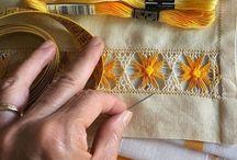 Embroidery  stitches / Vari esempi