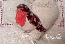 Robin / Pettirossi, fringuelli , cardinale rosso. Appliquè  e altri uccellini