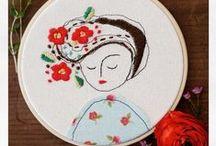 Elena Caron artist / Embroidery