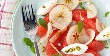 healthy food - dessert & juice