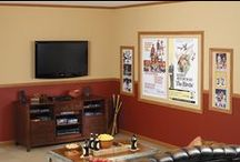 Man Caves / Man Cave - Media Room - Family TV Room, whatever you call it, it can have a fun theme and must be comfortable!