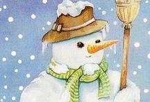 lumiukot snowmen