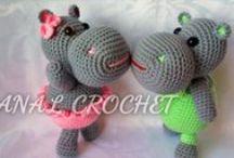 Crochet hippo's