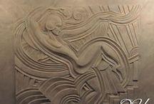 Барельеф, скульптура, на стене / барельеф