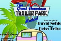 The Great American Trailer Park Musical / The Great American Trailer Park Musical. A musical comedy. Music and lyrics by David Nehls. Book by Betsy Kelso. Directed by: Kelliey Black Chavez  A country-rock and blues musical about 80s nostalgia, spray cheese, road kill, hysterical pregnancy, a broken electric chair,strippers, flan and disco.   Cast: Jeannie Garstecki - Cassy Spenner Norbert Garstecki - Tyler Roquemore Pippi - Jacqueline Henricksen Linoleum - Victoria Horn Pickles - Maegan Rupe Betty - Jodi Perry Duke- Joel Emerson