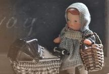 Small old dolls